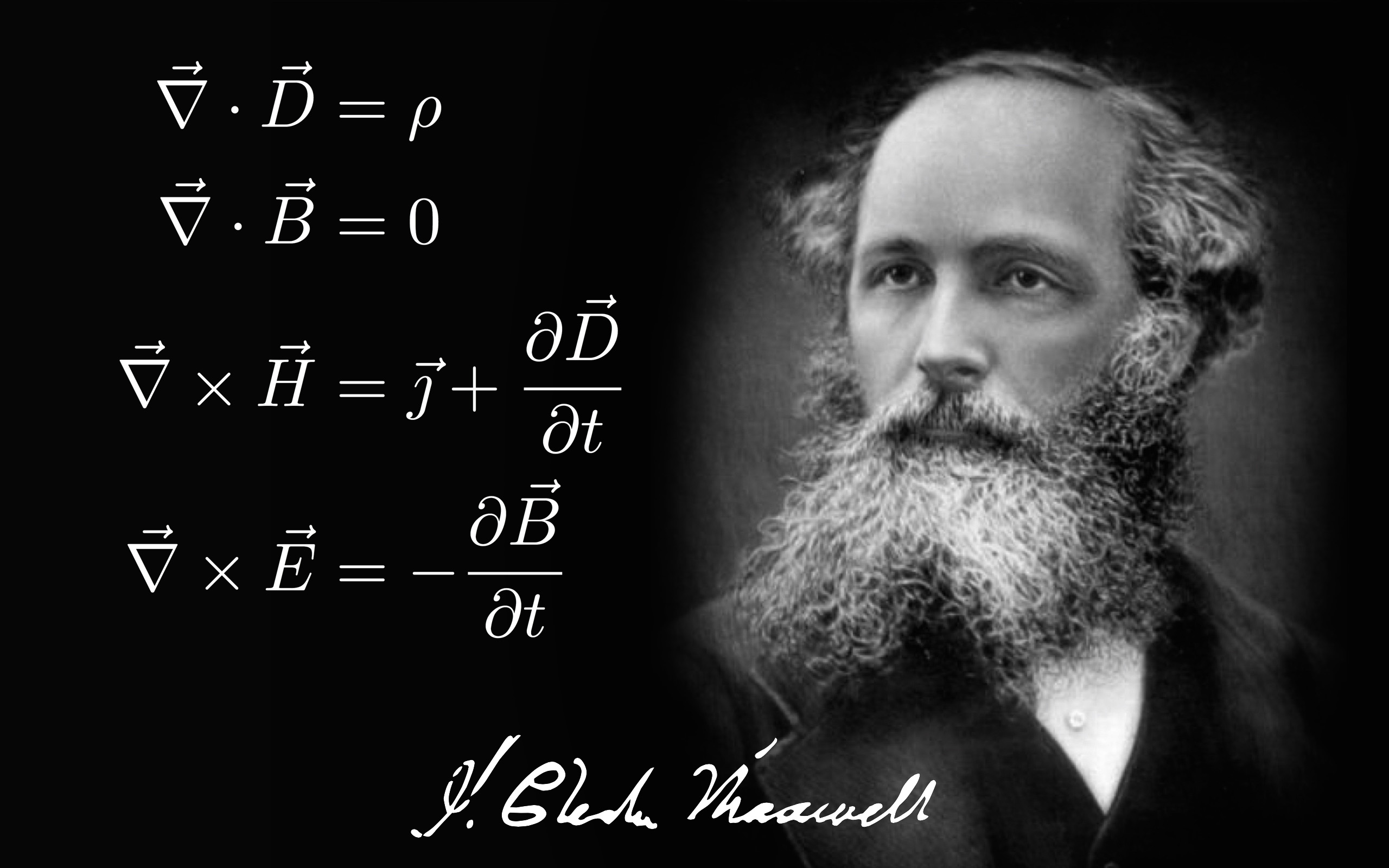 Physics James Clerk Maxwell Maxwell Equations Electromagnetism